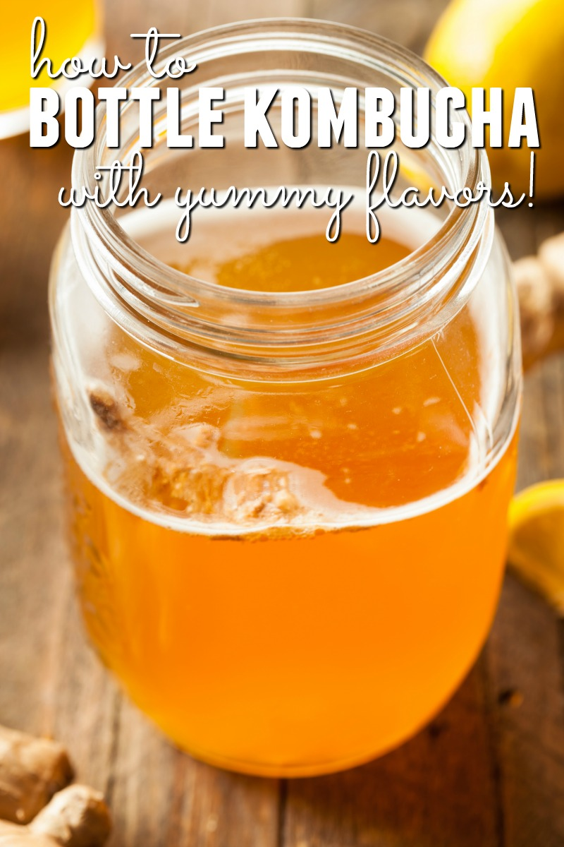 Want to learn how to bottle your homemade kombucha so it tastes amazing? Learn the steps of flavoring your homemade kombucha so it tastes great!