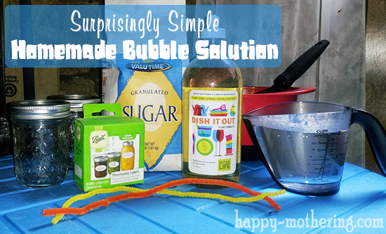 homemade bubble solution ingredients