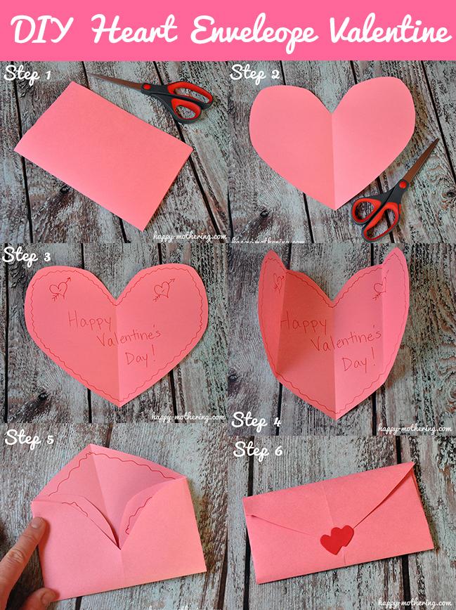 DIY Heart Envelope Valentine Craft Tutorial