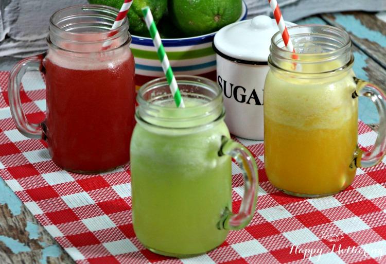 Agua Fresca watermelon orange cucumber