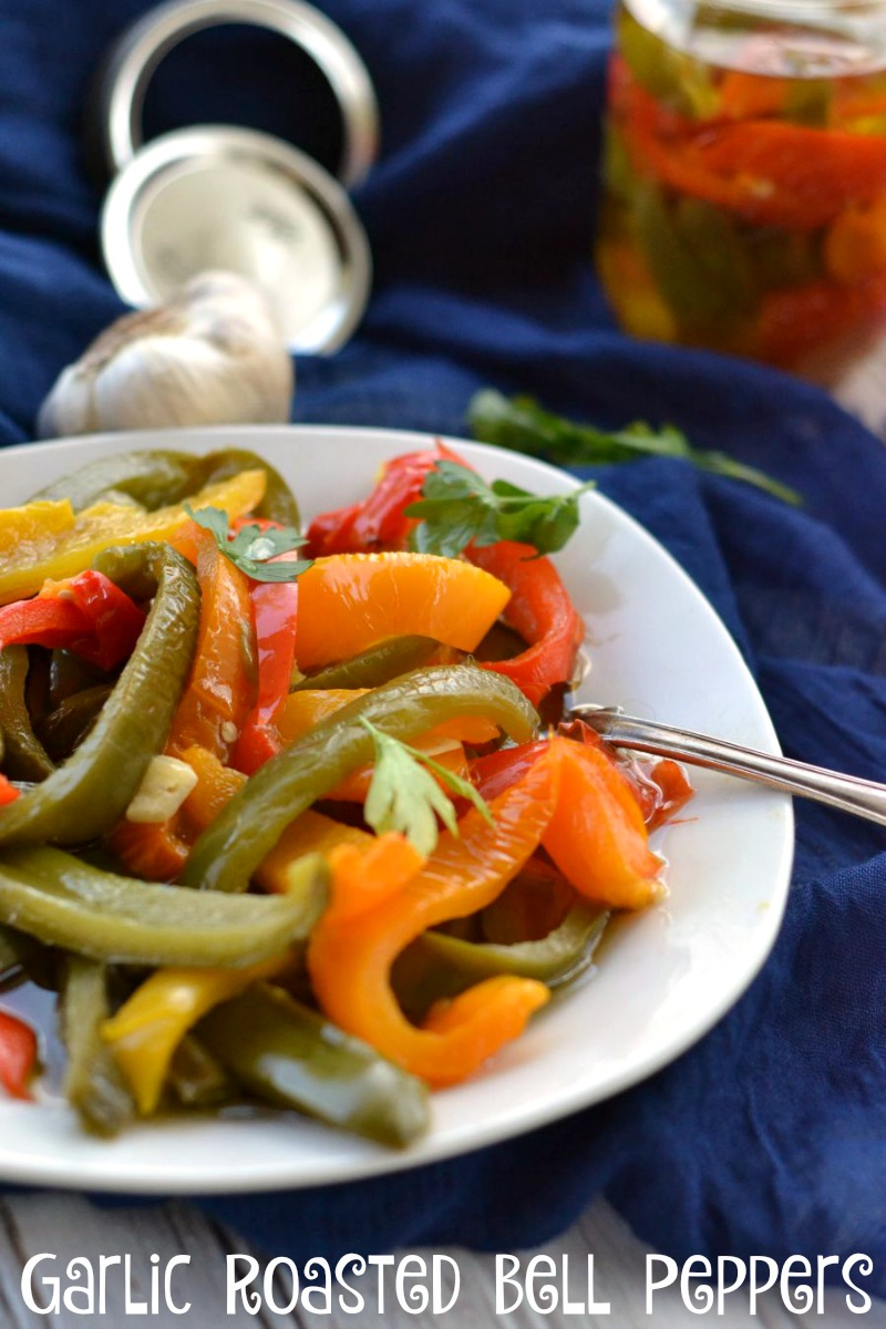 Roasted bell peppers are simple to make and delicious. You can serve them as a side dish, on pizza, as a bread topper or in any dish with bell peppers.