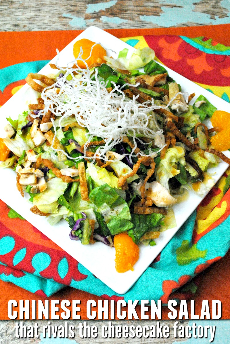 Are you looking for a Chinese Chicken Salad recipe that tastes as delicious as the one at the Cheesecake Factory? Then you're going to love this recipe.