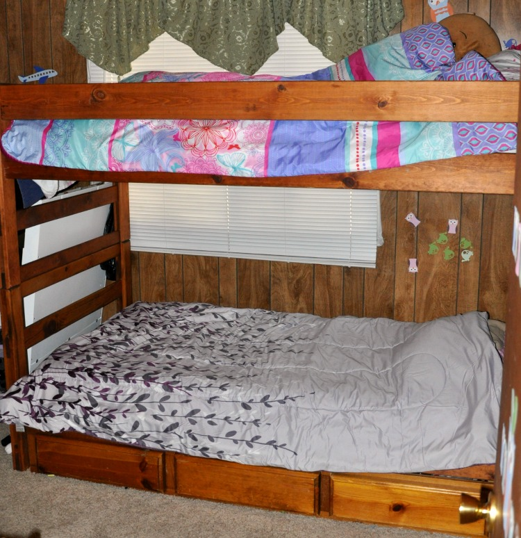 The girls can have their own style in their bunk bed featuring Essentia Grateful Bed JR mattresses.