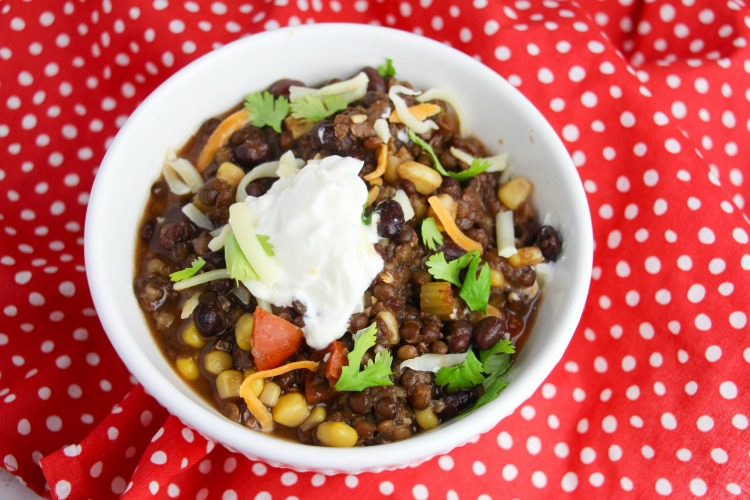 Are you looking for a delicious vegetarian recipe to make in your Instant Pot? This Instant Pot Vegetarian Chili is super easy to make and yummy too!