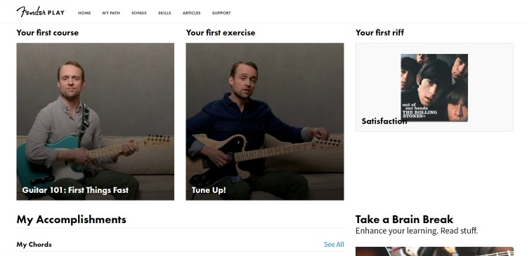 DAre you looking for professional online guitar lessons for homeschoolers? Fender Play has a great online system for learning acoustic and electric guitar.